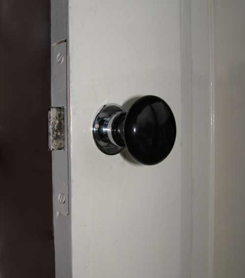 Black porcelain Doorhandle